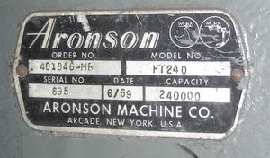 Aronson ft240 1969    10
