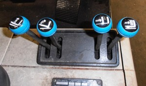Crown forklift handles