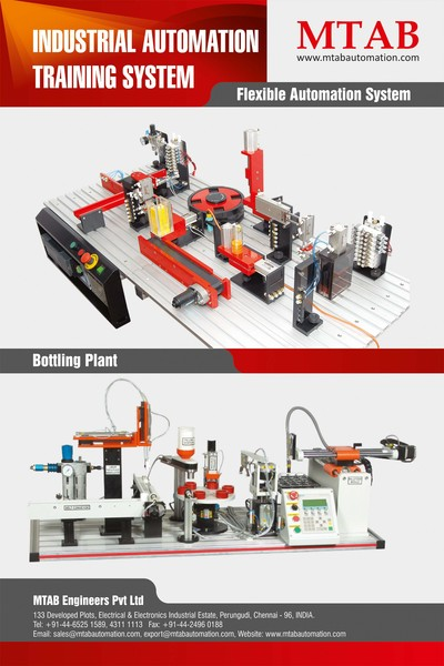 Industrial automation training system poster w 80cm x h 120cm
