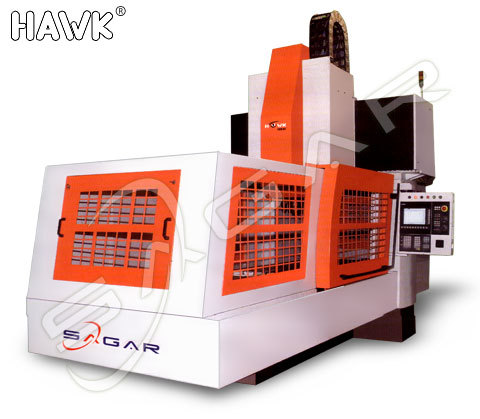 Cnc bridge type vertical machine center cnc plano milling hawk