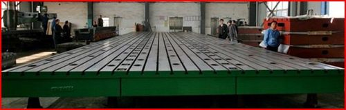 Cast iron t slotted floor plates workshop