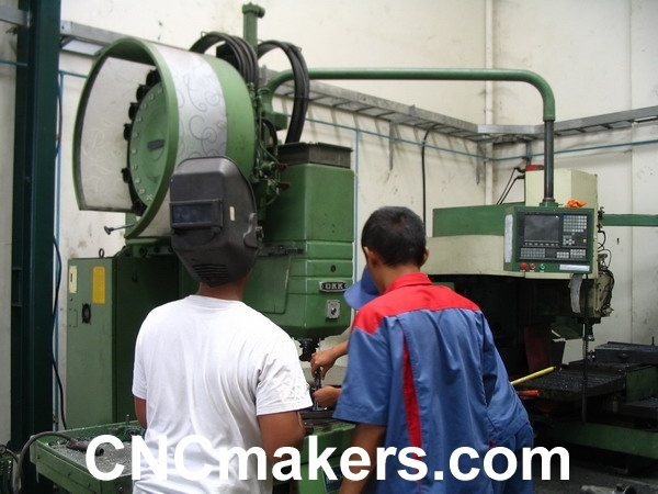 Okk milling machine retrofit