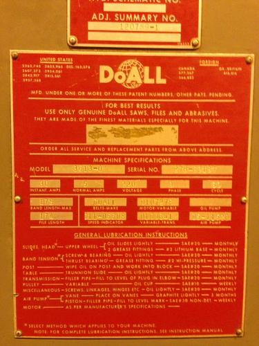Doall saw 1401c  13