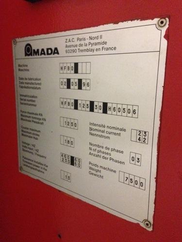 138 ton amada 1253 hfbo 6