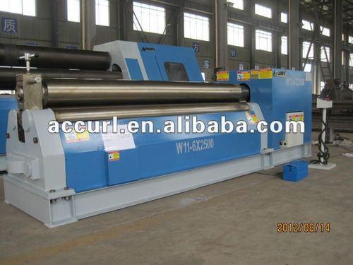 Mechanical three roller plate rolling machine three