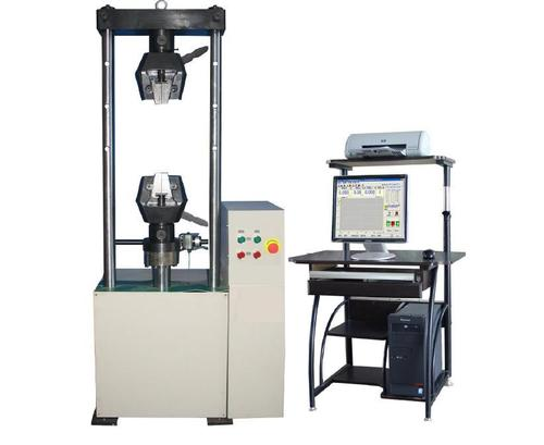 Hlc series compact design servo hydraulic computer controlled universal testing machine