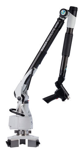 Thumb romer 7 axis absolute arm for external scanners