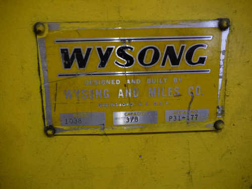 Wysong sale  6