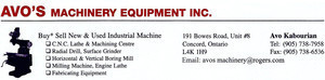 Avo's Machinery Equipment Inc.
