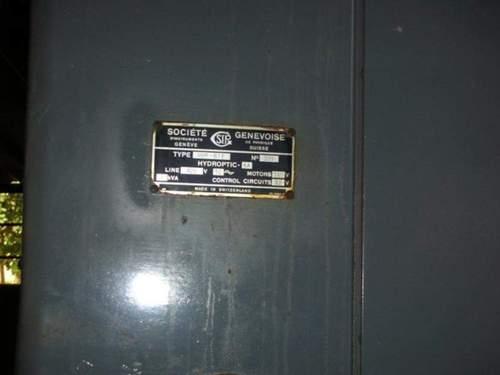 Sip hydroptic 6a jig boring machine label