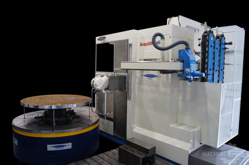Rotary table with machine