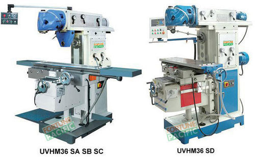Uvhm36 sa sb sc sd horizontal and vertical knee type milling machine