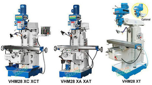 Vhm28 horizontal and vertical knee type milling machine