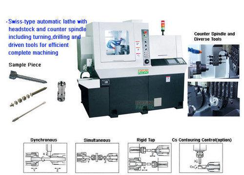 Xknc s20f swiss type cnc automatic lathe