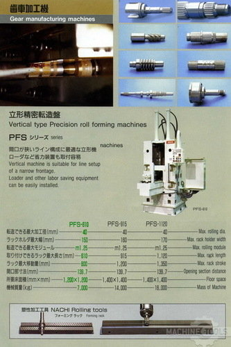 Pfs 610 spec.