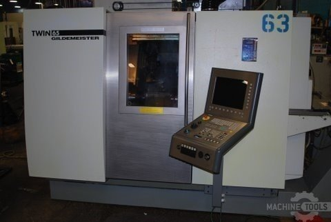 Deckel maho gildemeister model 65 twin turret spindle live tool cnc lathe  2005