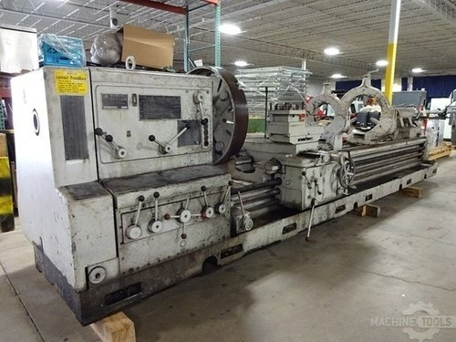 Meuser geared head gap bed engine lathe