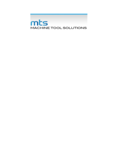 mts Machine Tool Solutions