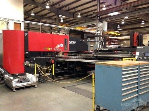 33 ton2000 watt amada apelio 367v iii cnc punchlaser machine 2517 a