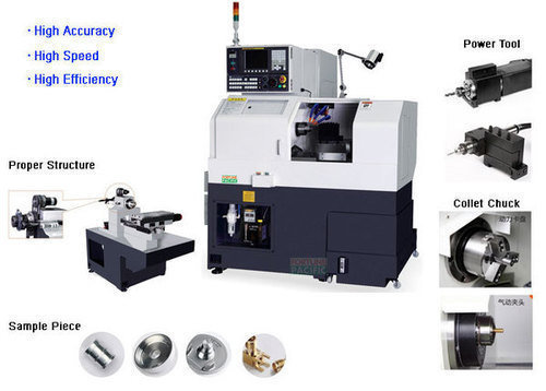 Knc 20g small type precision cnc gang tool lathe