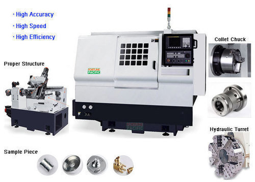 Knc 20g small type precision cnc gang tool lathe