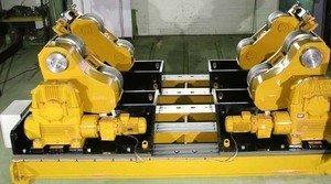 Welding rotator roller beds