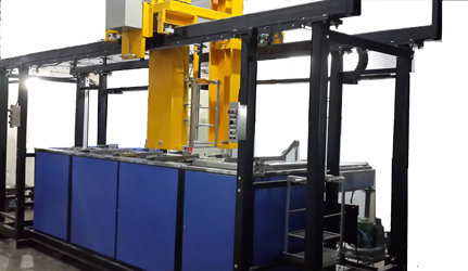Material handling system  transporter type