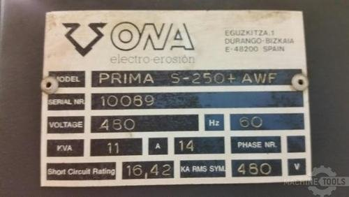 Ona prima s 250 awf 4 axis cnc wire type electrical discharge machine  2002 3