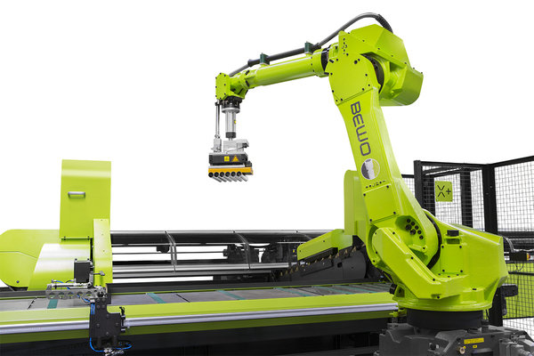 Scr 90 efficient stacking robot of bewo cutting line