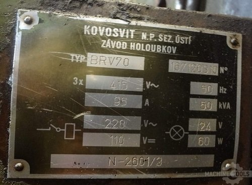 Tos mas brv 70 3000 power label