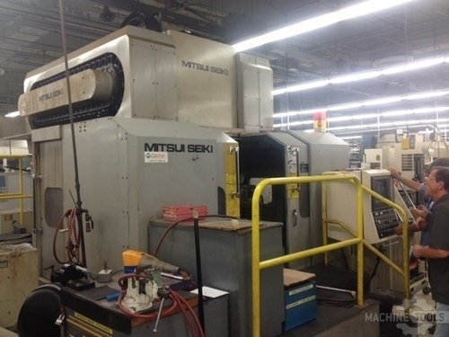 Mitsui seiki vs5a ds cnc dual spindle vertical machining center 2606a