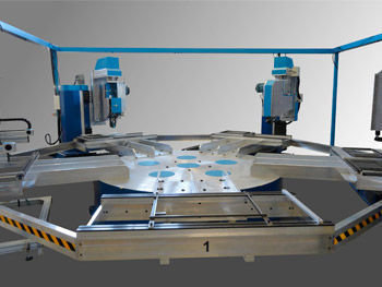 Tr   cnc rad rec single spindle rotary indexing table by cosmap