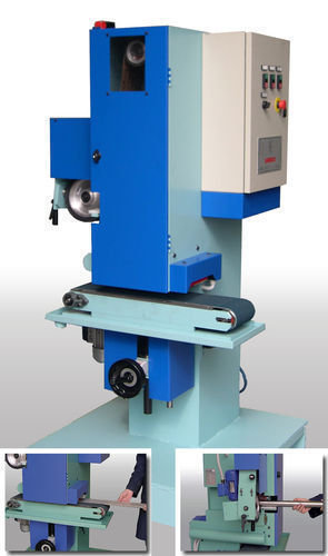 Duo centerless grinding machine with belt and deburring by garboli