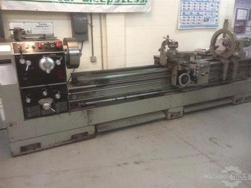 1993 sharp 24x120 gap bed lathe pic   1