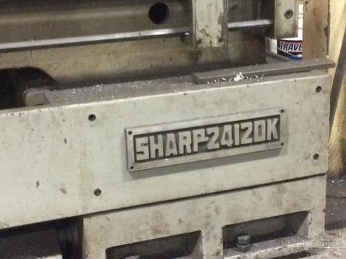 1993 sharp 24x120 gap bed lathe pic   15