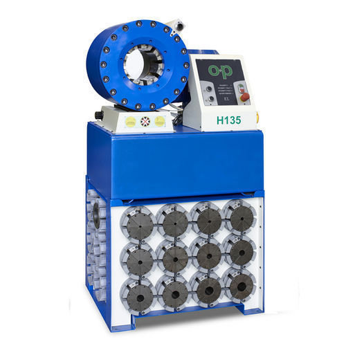Tubomatic h135 el hose crimping machine automatic by op