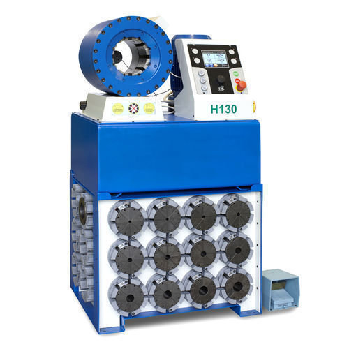 Tubomatic h130 es hose crimping machine plc controlled by op