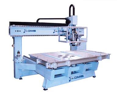Dms 3 axis moving table cnc router 1