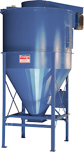 Stationary vertical auger mixer