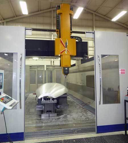 Breton flymill  high speed vertical machining center aerospace