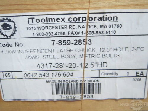 28   toolmex bison  4 jaw  4317 28 20  12.5 throle
