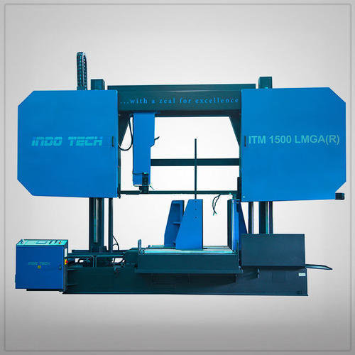 Double column semi automatic bandsaw machine 500x500