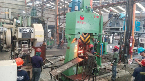 1 ton electro hydarulic die forging hammer  one die with multi pieces forging line