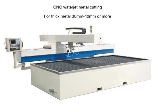 Cnc waterjet metal cutting 30 40mm