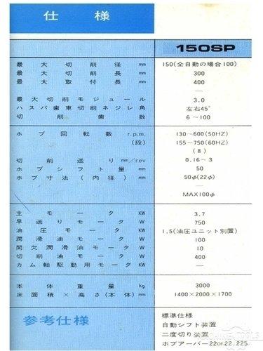 Hamai 150sp spec  1