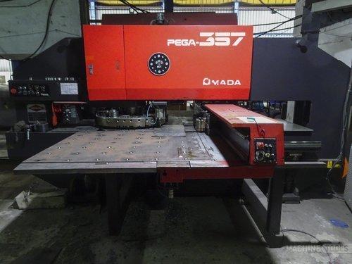 Front view for amada pega 357 machine
