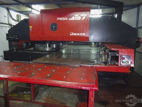 Front view for amada pega 357 machine