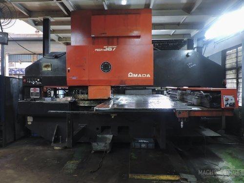 Front view of amada pega 367 machine