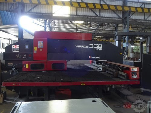 Front view of amada vipros 358 king machine