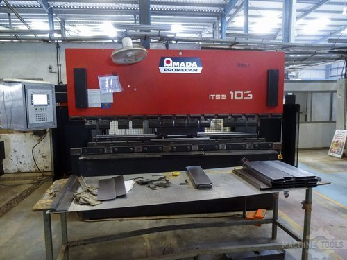 Front view of amada it s2 103 machine